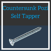 Image for Countersunk Pozi Self Tapper BZP