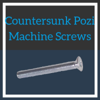 Image for M6 Countersunk Pozi Machine Screws - BZP