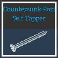 Image for No.8 Countersunk Pozi Self Tapper - BZP