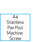 Image for Stainless A4 Pan Pozi Machine Screws