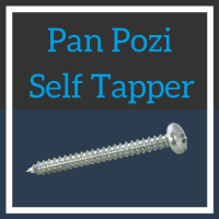 Image for No.8 Pan Head Pozi Self Tapper - BZP