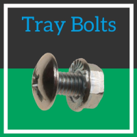 Image for M6 Tray Bolt c/w Serrated Flange Nut BZP